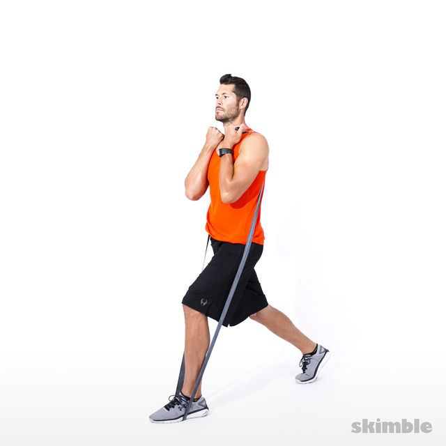 How to do: Split Squats with Band - Step 8