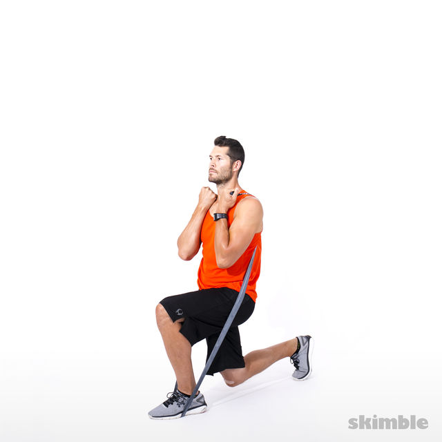 How to do: Split Squats with Band - Step 9