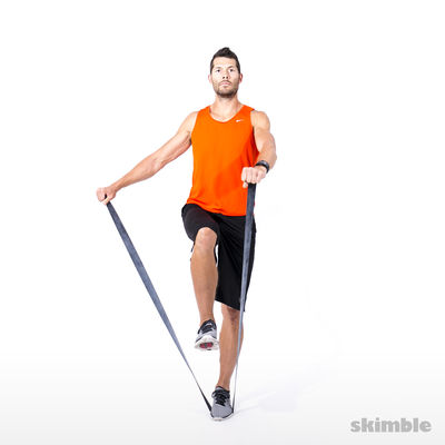 Left Leg Balance and L-lift with Band