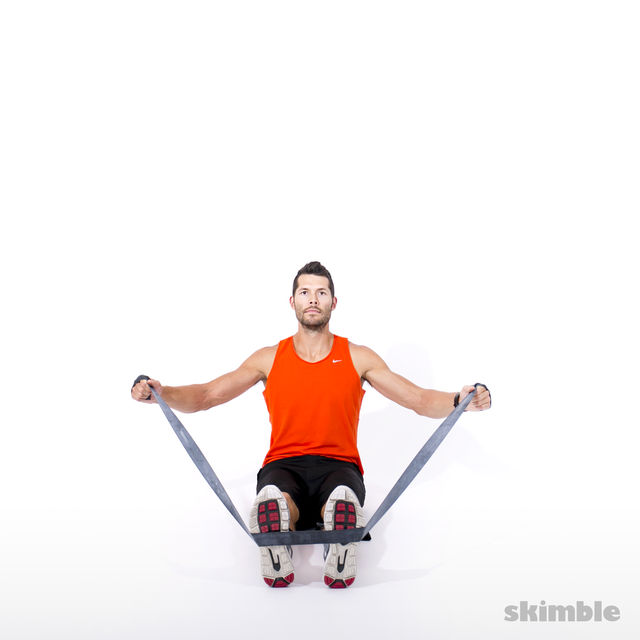 How to do: Rear Shoulder Fly with Band - Step 2