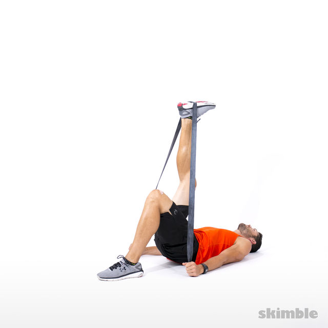 How to do: Right Leg Hip Lift with Band - Step 2