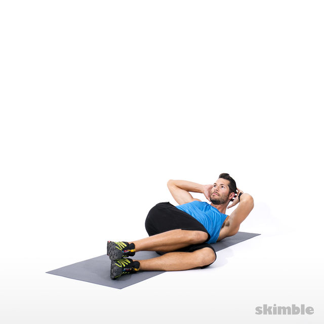 How to do: Alternating Side Crunches - Step 2