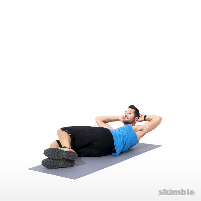 How to do: Alternating Side Crunches - Step 4