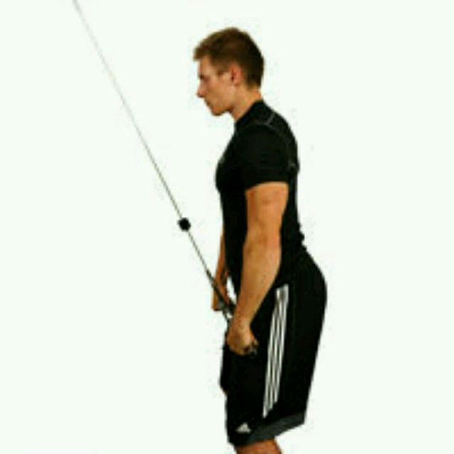 How to do: Standing Lat Pushdowns - Step 1