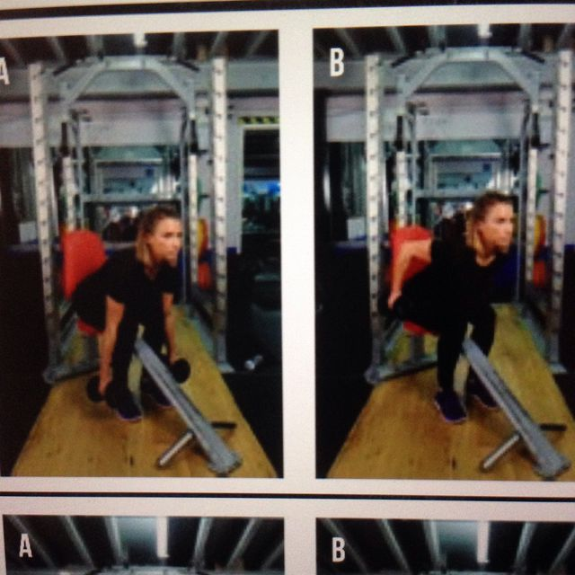 How to do: Seated Dumbell Row - Step 1