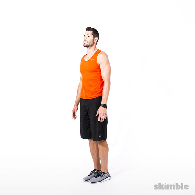 How to do: Reverse Lunge Elbow to Instep with Rotation - Step 1