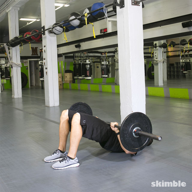 How to do: Barbell Glute Bridge - Step 2