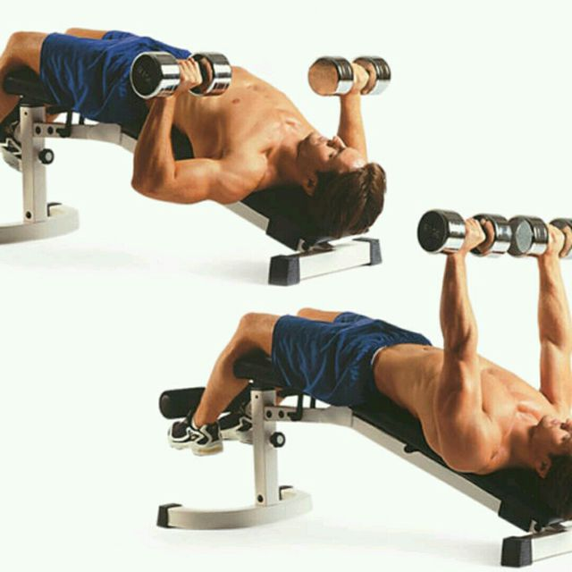 How to do: Decline Dumbbel Bench Press - Step 1