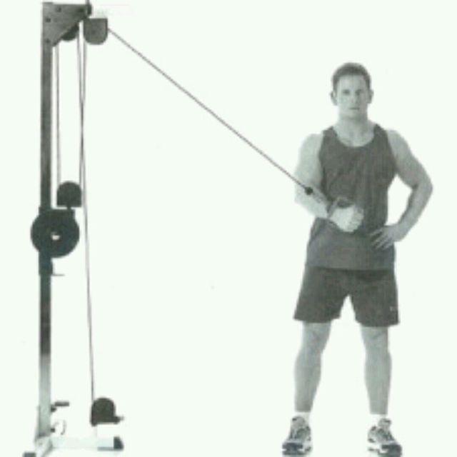 How to do: Singel Arm Cabel Crossover (Left) - Step 1