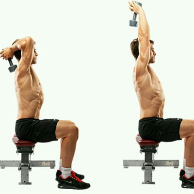Seated Triceps Press Extension