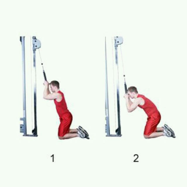 How to do: Cable Crunch - Step 1