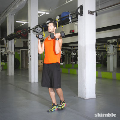 Dumbbell Hammer Curl to Press