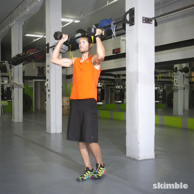 How to do: Dumbbell Hammer Curl to Press - Step 4