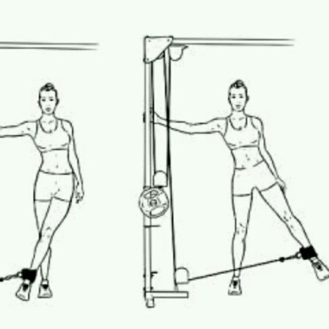 Cable Hip Abduction Exercise How To Workout Trainer By