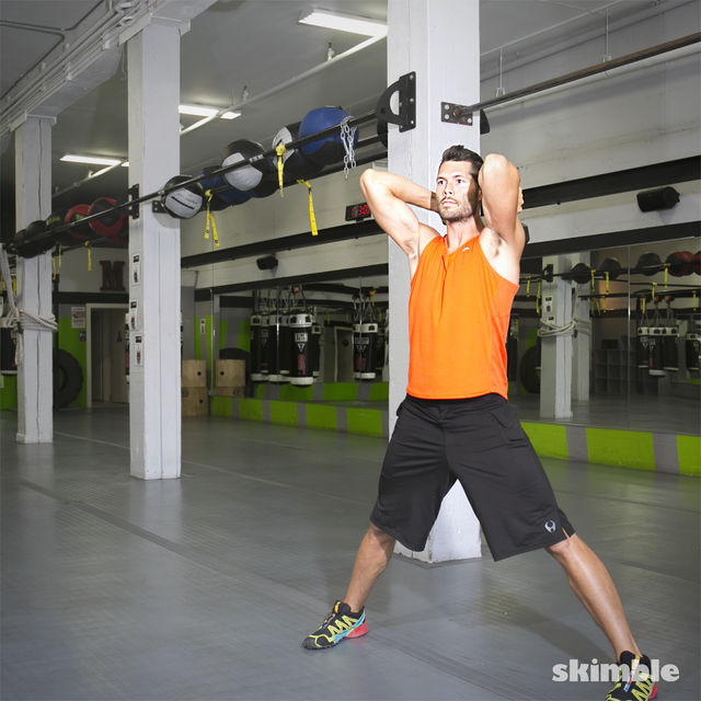How to do: Lateral Lunge with Tricep Extension - Step 7