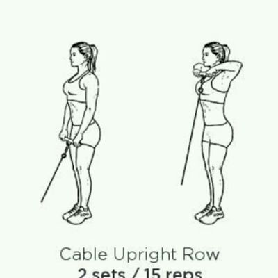 Cable Upright Rows