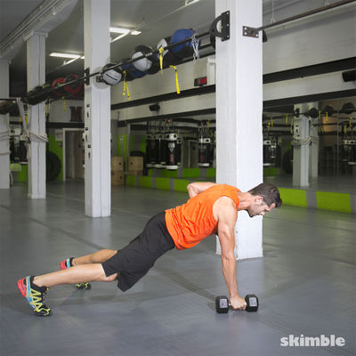 Push-Up to Row to Burpee
