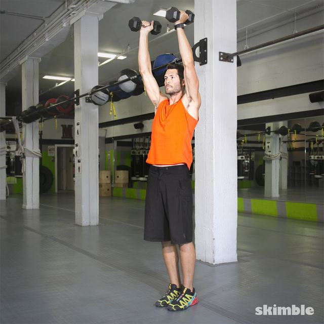 How to do: Lateral Lunge with Shoulder Press - Step 5