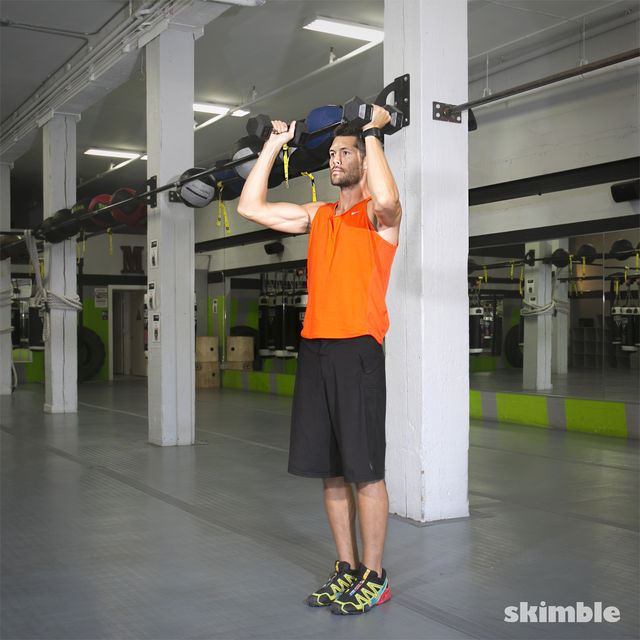 How to do: Lateral Lunge with Shoulder Press - Step 6