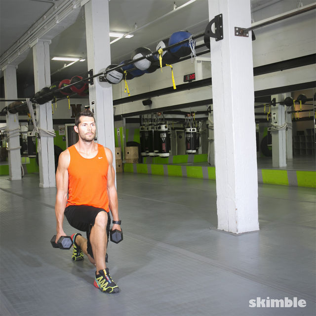 How to do: Walking Dumbbell Lunges - Step 6