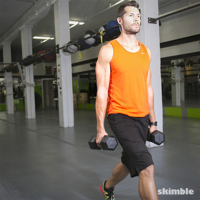 How to do: Walking Dumbbell Lunges - Step 8