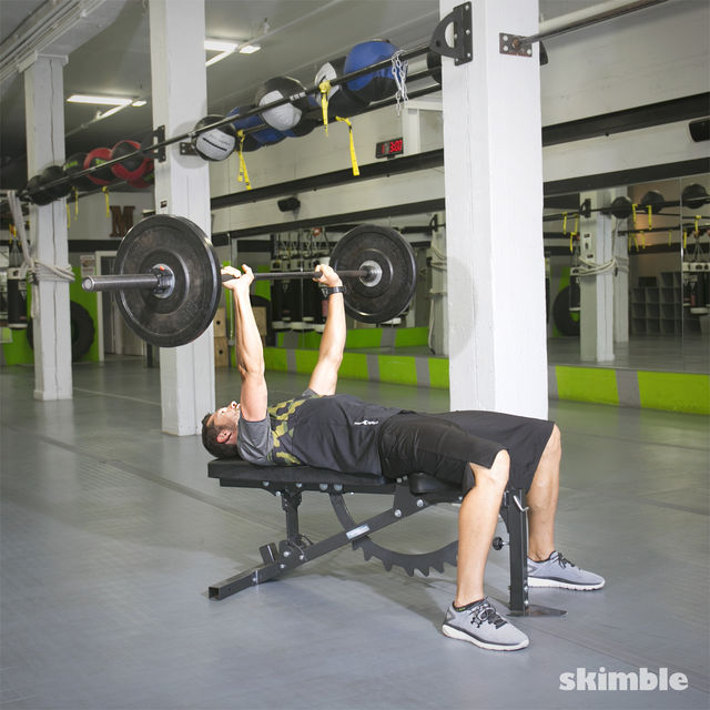 How to do: Barbell Bench Press - Step 3