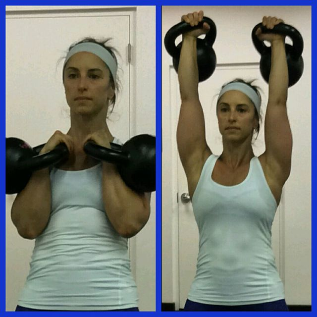 How to do: Double Kettlebell Clean & Jerk - Step 1