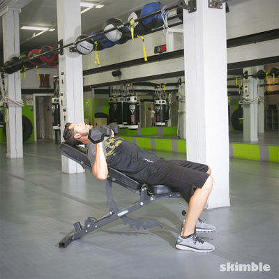 Incline Dumbbell Bench Press - 8 Reps
