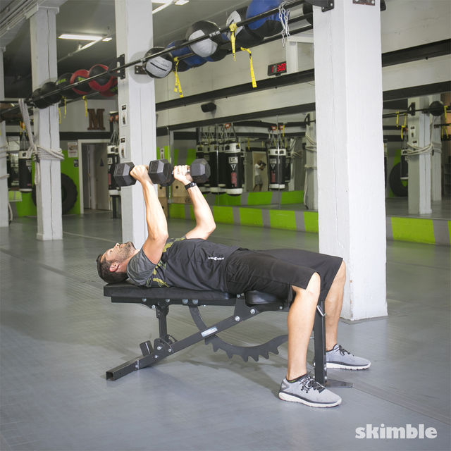 How to do: Dumbbell Bench Press - Step 6