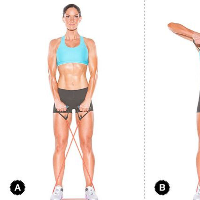 How to do: Upright Row With Band - Step 1