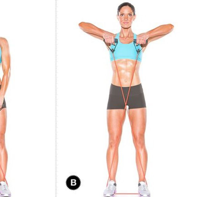 How to do: Upright Row With Band - Step 2