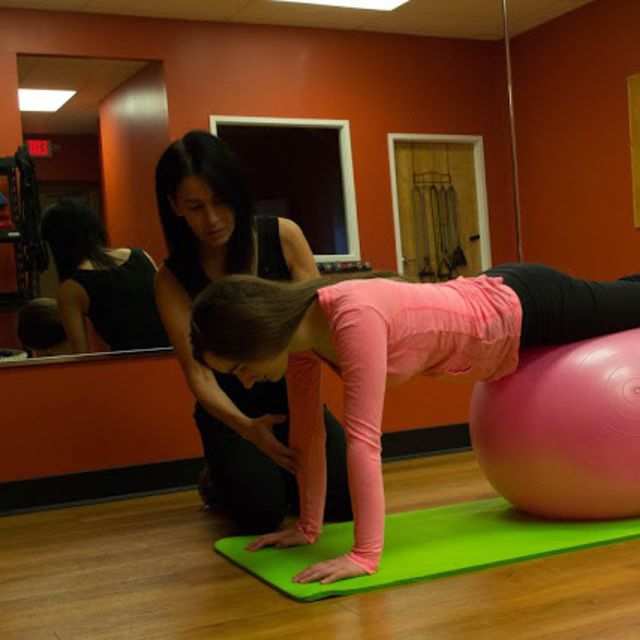 How to do: Stability Ball Pushup - Step 1