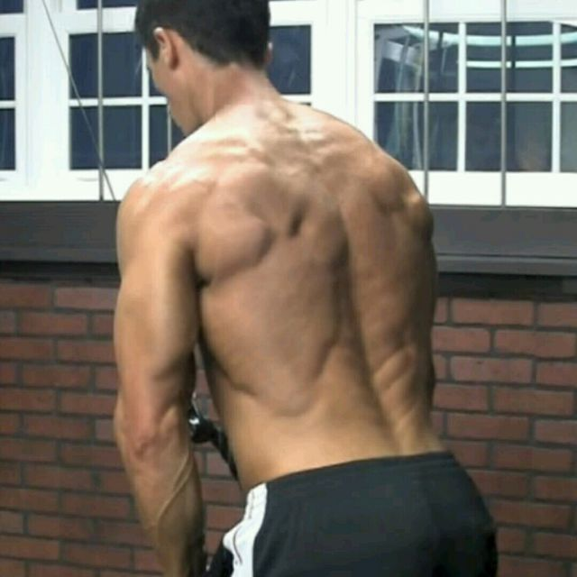 How to do: Upper Back - Straight Arm Pushdown - Step 1