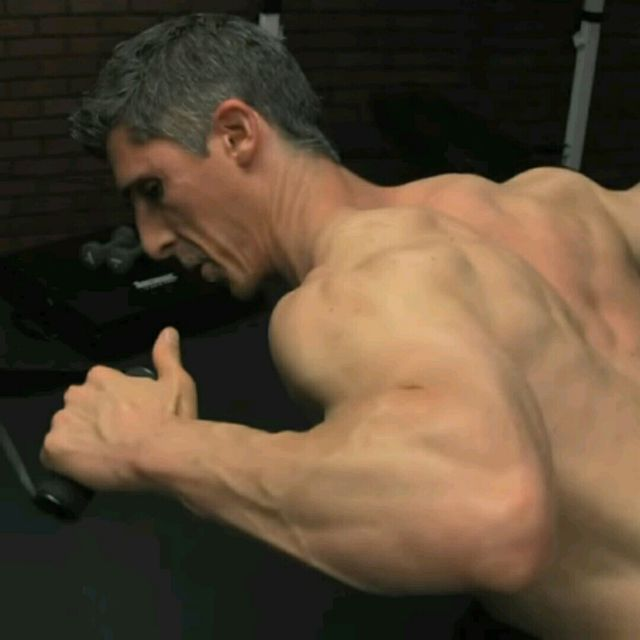 How to do: Upper Back - Bentover Rhomboid Row with Extension - Step 1