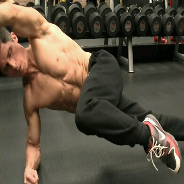 How to do: Plank - Side Plank - Upper Leg Draw - Step 1