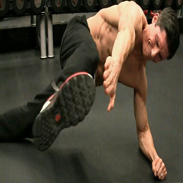 How to do: Plank - Side Plank - Upper And Lower Leg Draw - Step 1