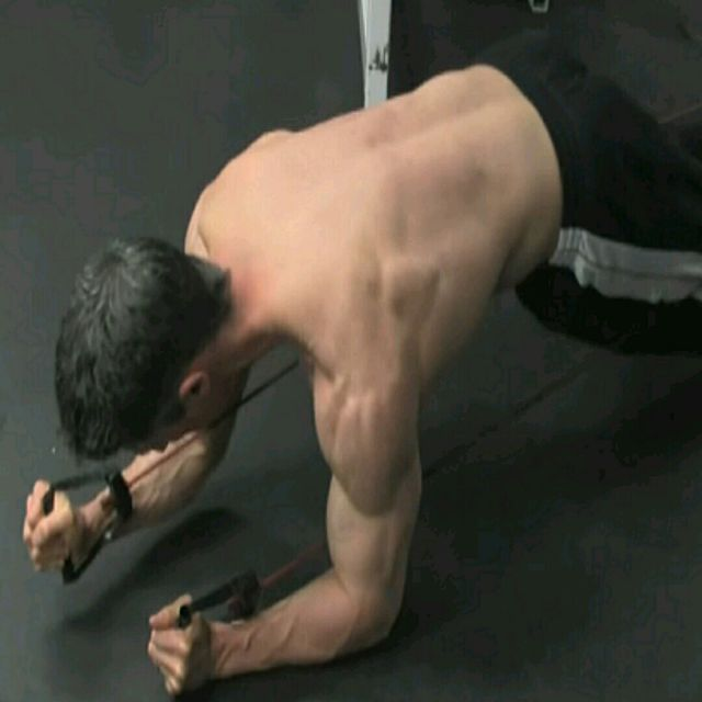 How to do: Plank - Band Rotation - Step 1