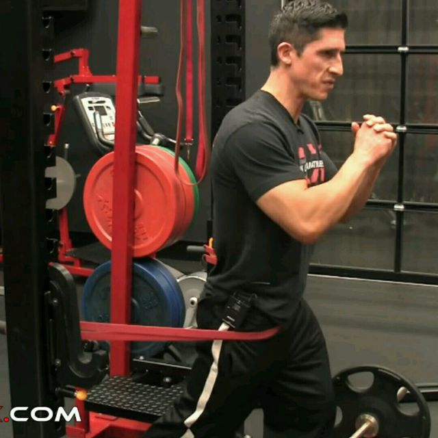 How to do: Lower Back - Band Hip Hinge - Step 1