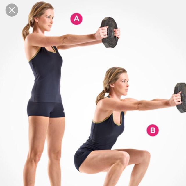 How to do: Squat & Front Raise - Step 1