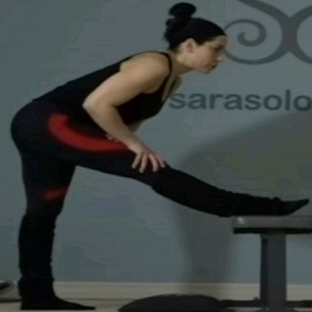 How to do: Hamstring Stretch - Standing - Step 1