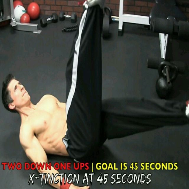 How to do: Abs - Two Down One Ups - Step 1