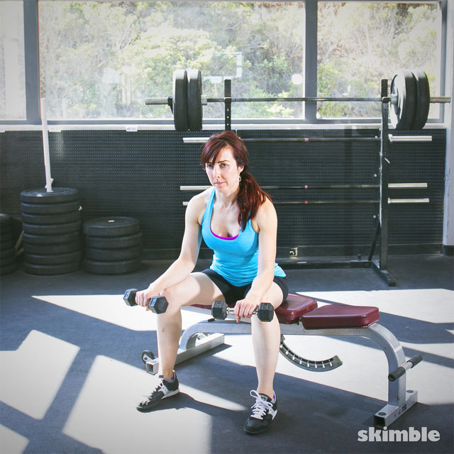 How to do: Dumbbell Reverse Wrist Curls - Step 2