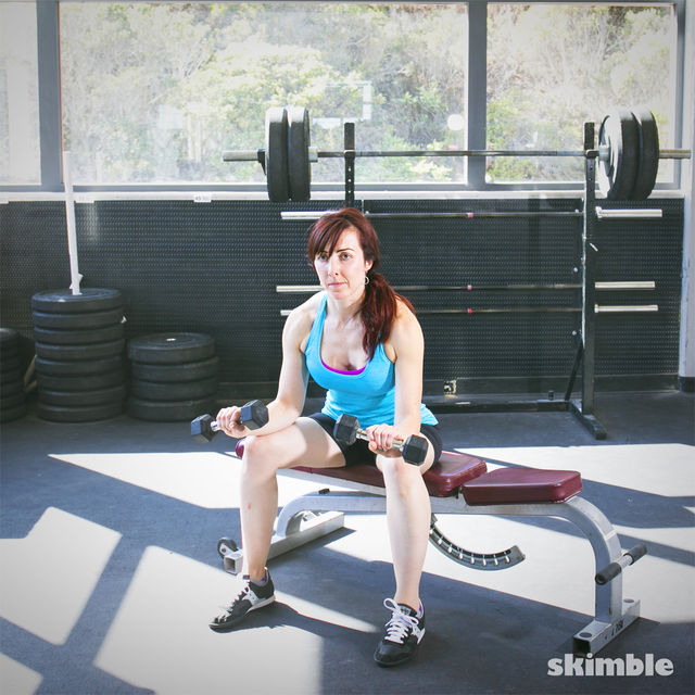 How to do: Dumbbell Reverse Wrist Curls - Step 3