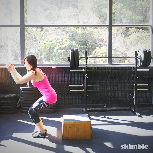 front hop overs exercise how to workout trainer by skimble