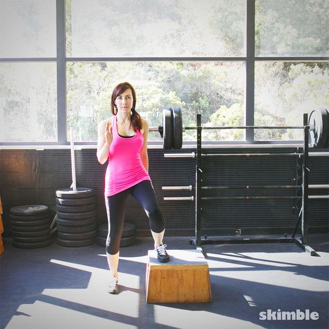 How to do: Left Leg Lateral Step Up - Step 2