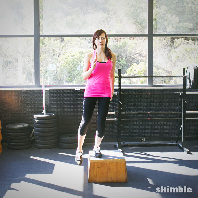 How to do: Left Leg Lateral Step Up - Step 4