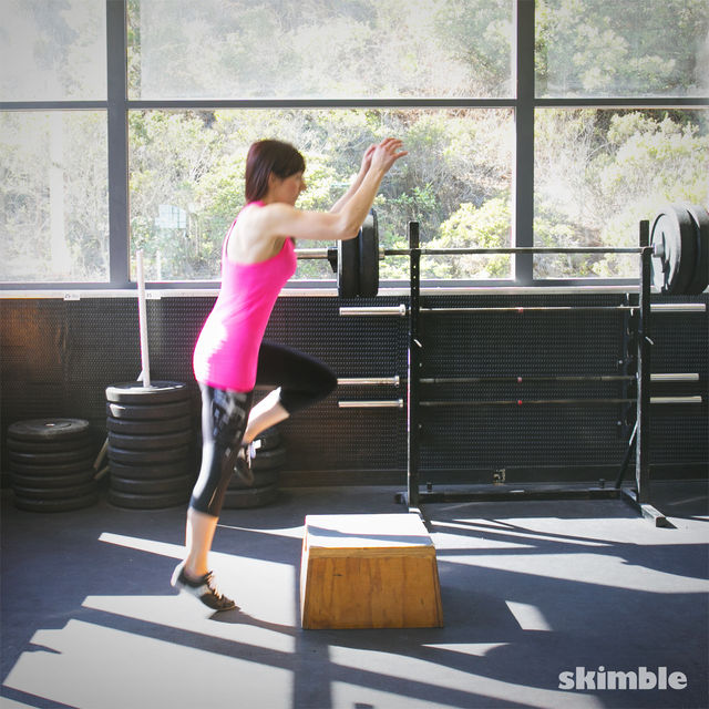 How to do: Right Leg Box Jumps - Step 2