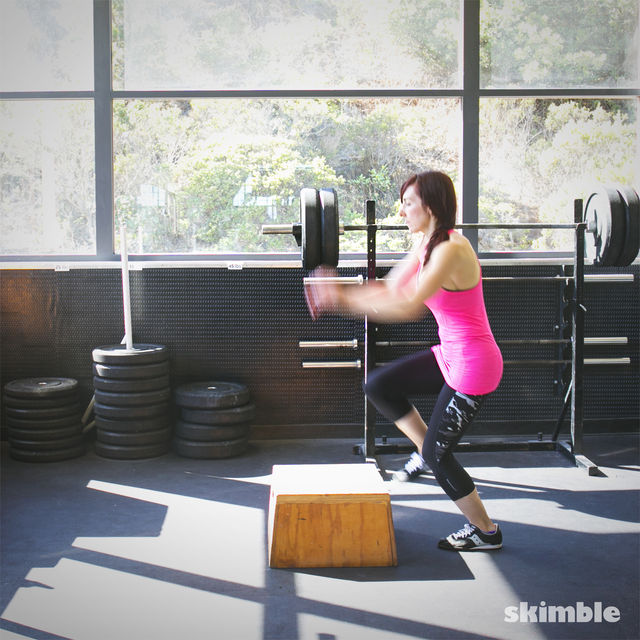 How to do: Left Leg Box Jumps - Step 2