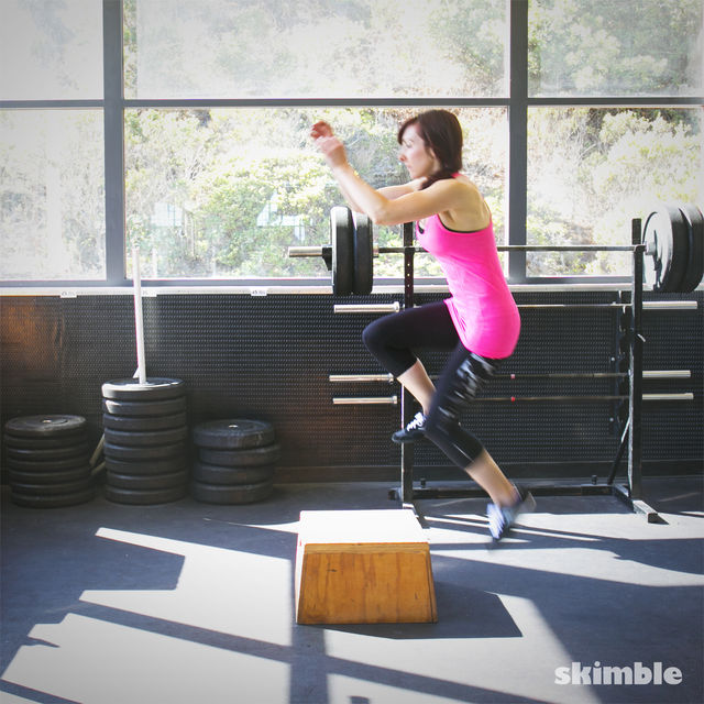 How to do: Left Leg Box Jumps - Step 3