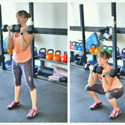 Front Squat Dumbbells